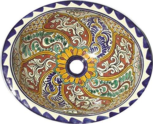 (Talavera Mexican Handmade Hand Painted Sink M72 )