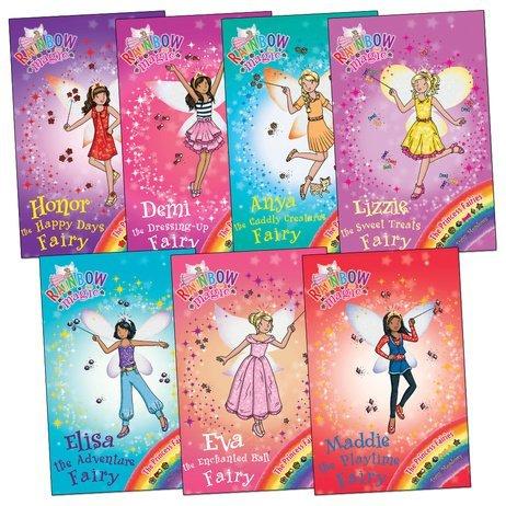 Dressing Up Fairies (Rainbow Magic Princess Fairies Pack 7 Books (Anya Cuddly Creatures Fairy Demi the Dressing Up Fairy Elisa the Adventure Fairy Eva the Enchanted Fairy Honor the Happy Days Fairy Lizzie)