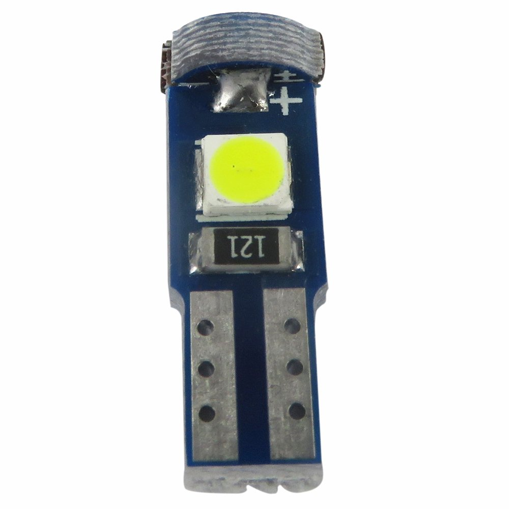 WLJH 6pcs Ice Blue 3//8 Twist Socket T5 Led Bulb Wedge 37 2721 74 3-SMD 3030 LED Dashboard Instrument Cluster Panel Indicator Dash Lights Bulb,Plug and Play