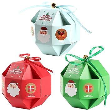 Amazon.com: Feelava - Cajas de caramelos de Navidad, 12 ...