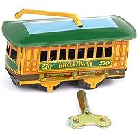 Ocamo Tren Modelo Hierro Vintage Wind Up Tram