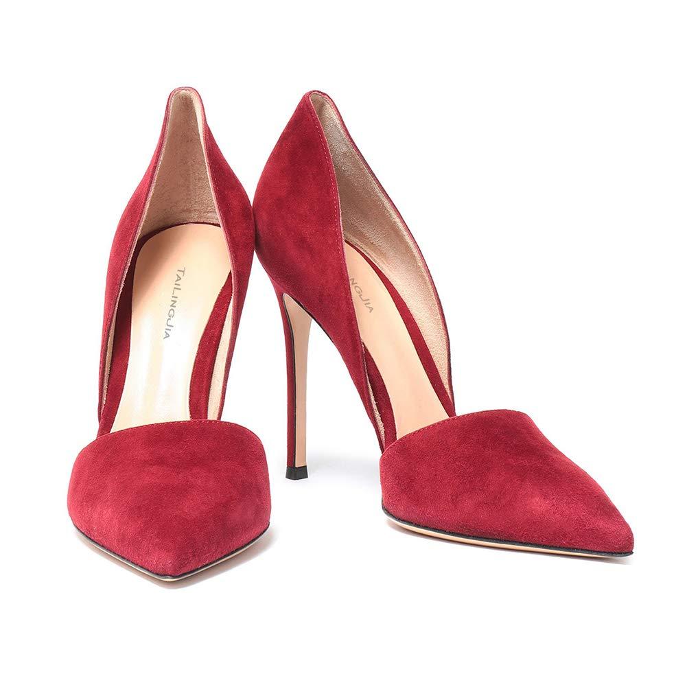 Stiletto Schuhe Schuhe Schuhe Klassische Wildleder Spitze Zehe,MWOOOK-445 Klub Party Freizeit Kleid Schuhe schuhe 34-45 EU e08c92
