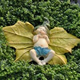 Miniature Fairy Garden Leaf Baby with Pants For Sale