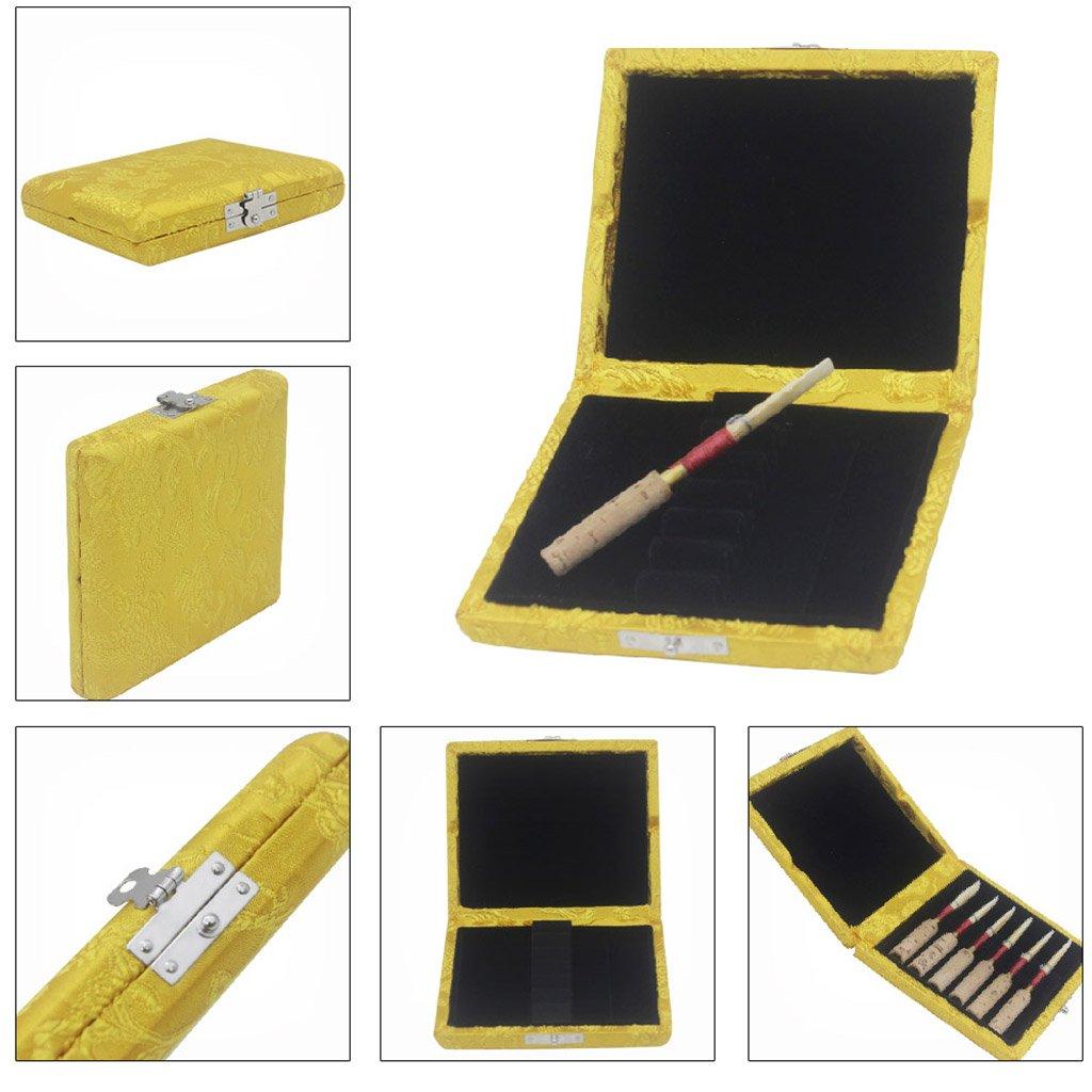 Holzbox Blattetui für Saxophon Klarinette 6 Blätter Positionen