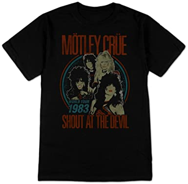 632f94b1bb9 Amazon.com  Motley Crue- Vintage Shout At the Devil T-Shirt Size S ...