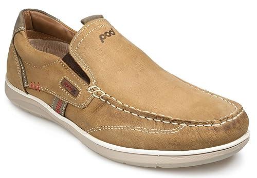 Pod Ospery - Mocasines de piel para hombre marrón marrón: Amazon.es: Zapatos y complementos