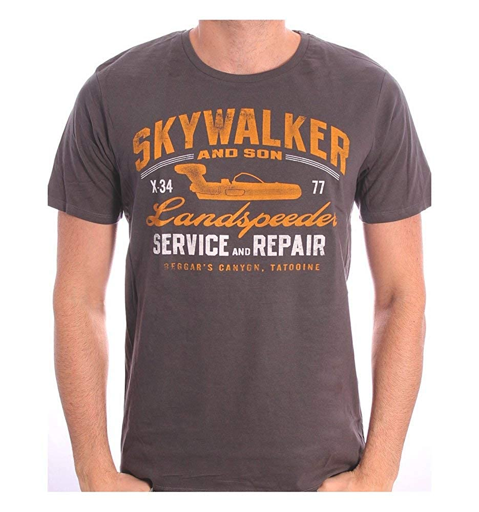 Star Wars Landspeeder Repair Camiseta Gris