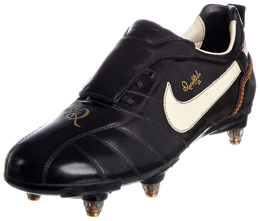 the latest 094cd 75396 Nike Men's Tiempo Ronaldinho Sg Black/White/Gold Football ...