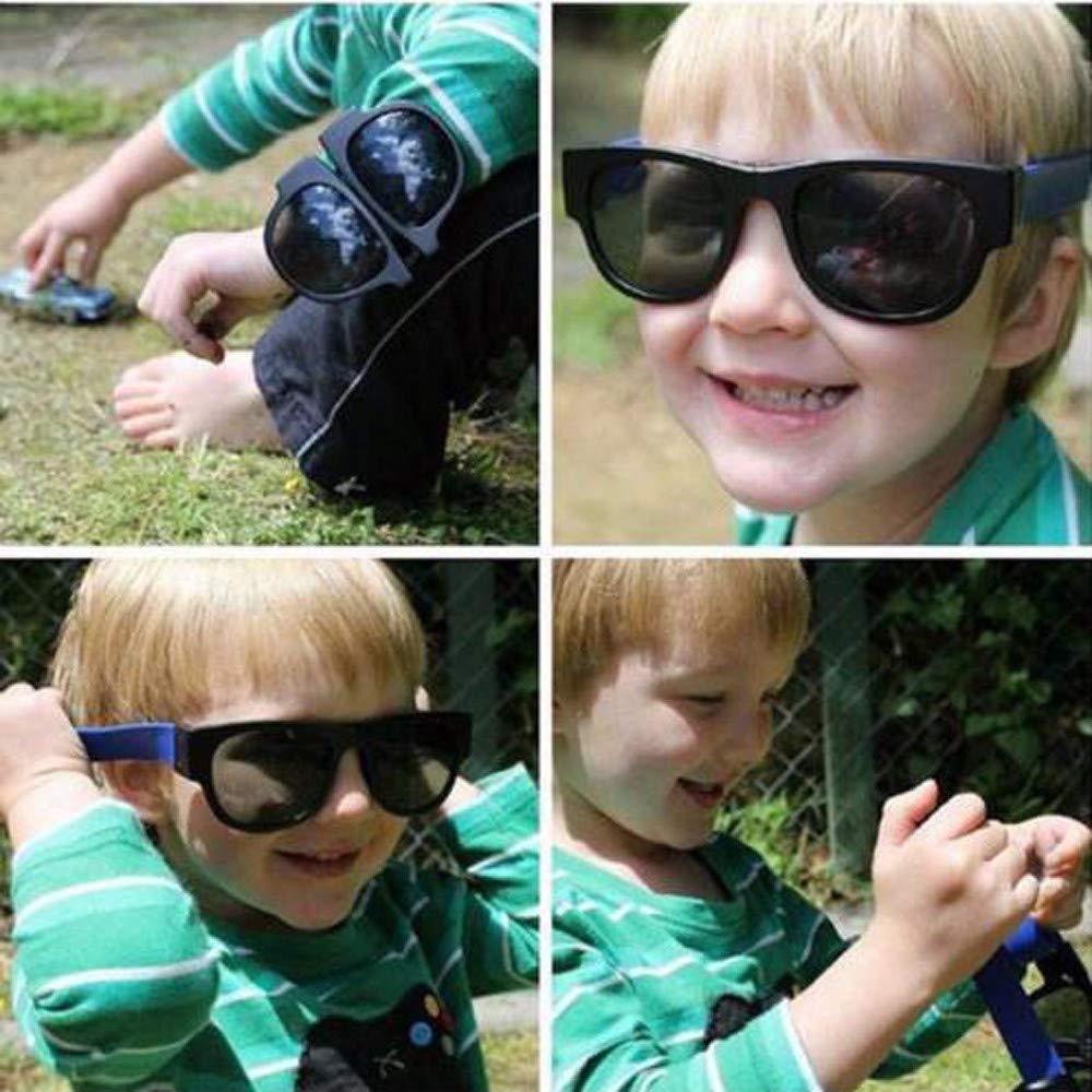 Tuscom Creative Foldable Polarized Sunglasses Fashion Summer Beach Sport Wayfarer Sunglasses Driving Goggles Snap Bracelet Wristband Glasses for Men Womens (Blue)