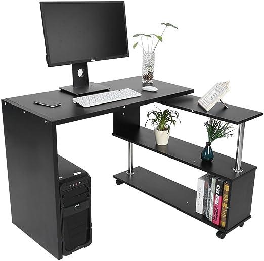 Mesa de ordenador en forma de L, Mueble de escritorio con ...