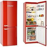 Montpellier MAB365R Retro Style Fridge Freezer in Red