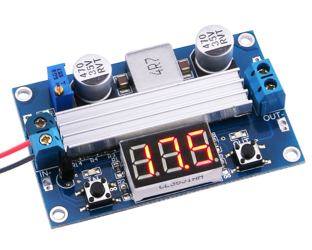 Yeeco DC DC 10-60V to 13-97V Boost Voltage Regulator Power Converter 1500W 22A Volt Transformer Power Supply Module Board with Adjustable Potentiometer & Heatsink Fan B1700640