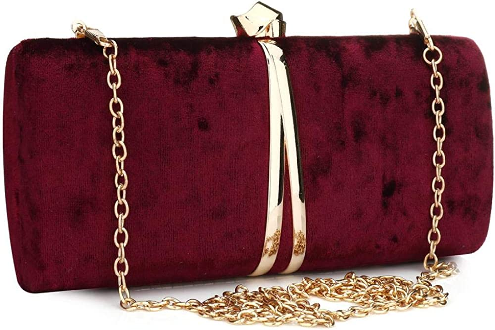Suede Clutch Bag Shoulder...