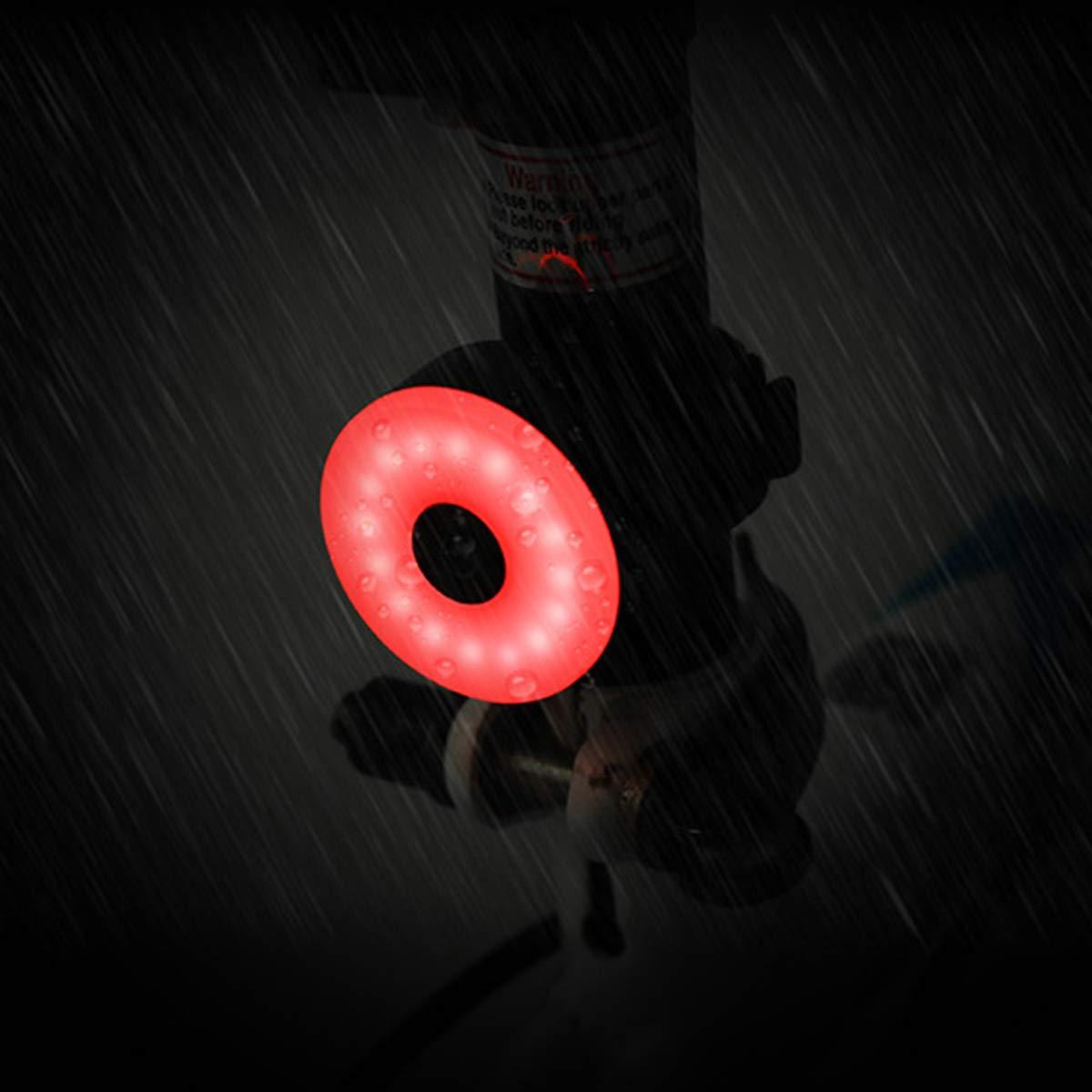 Recargable por USB Universal luz de Advertencia de Seguridad 5 Modos de luz Ajustable Linterna Trasera para Casco de Bicicleta Impermeable Jinxuny Luz Trasera LED para Bicicleta