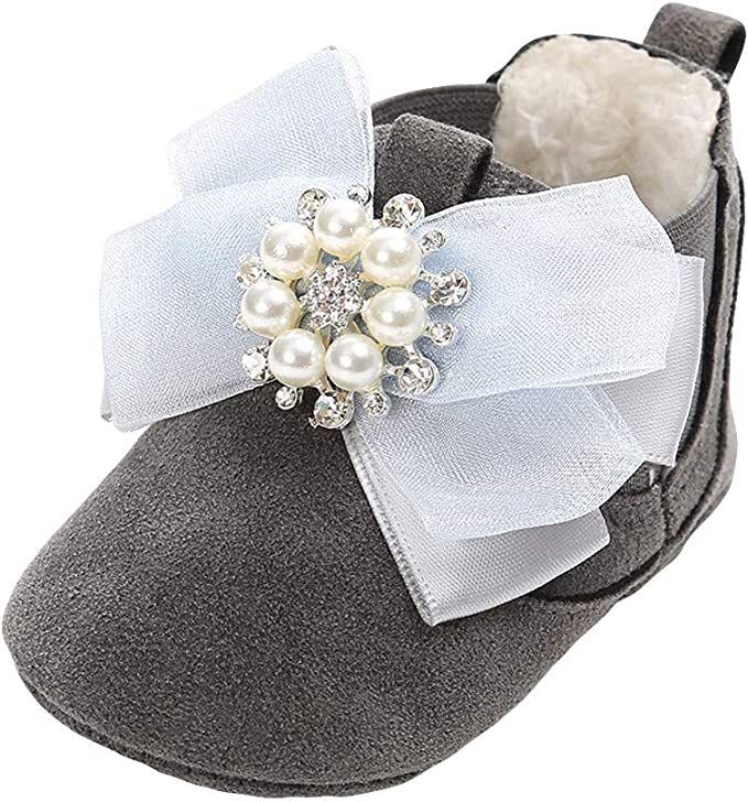 Infant//Toddler Lurryly❤Kids Shoes for Girls Bowknot Princess Bandage First Walkers Shoe
