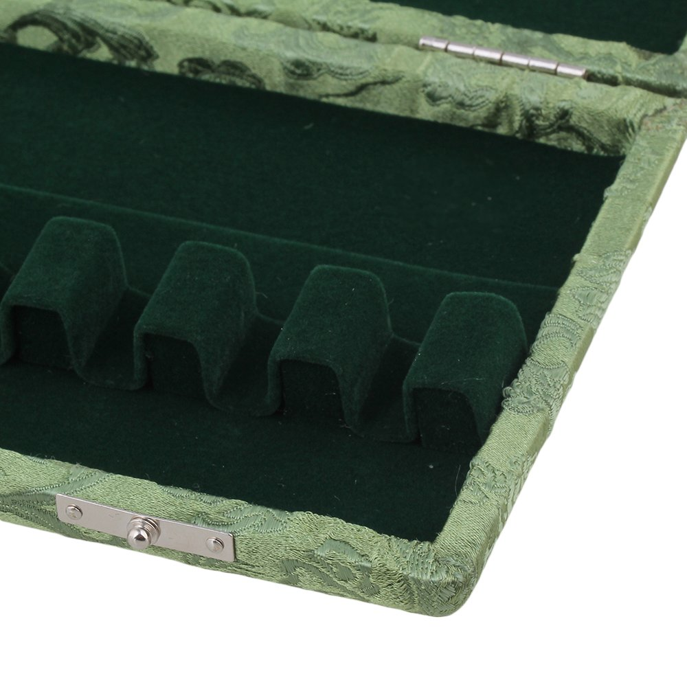 BQLZR Green Silk Wood Bassoon Reed Box Reed Case with Flannel Slot Inside for 10-Reeds Pack of 5 by BQLZR (Image #4)