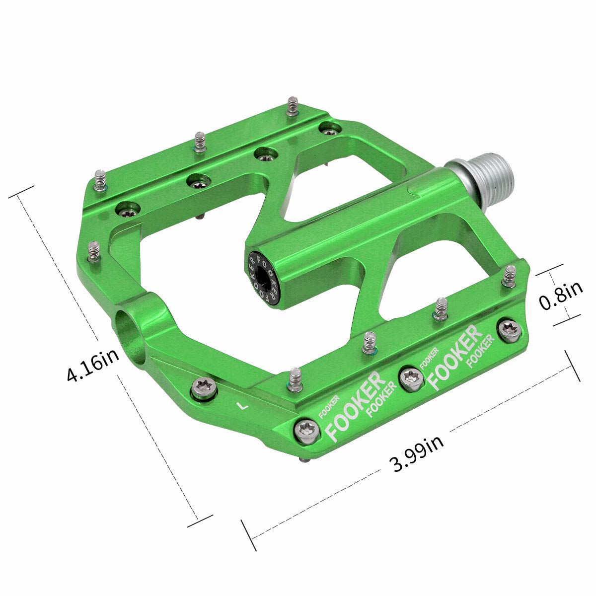 FOOKER Bike Pedals Non-Slip Aluminum Alloy MTB Mountain Bike Pedals 3 Bearing 9/16'' for Road BMX MTB Fixie Bikes by FOOKER (Image #7)