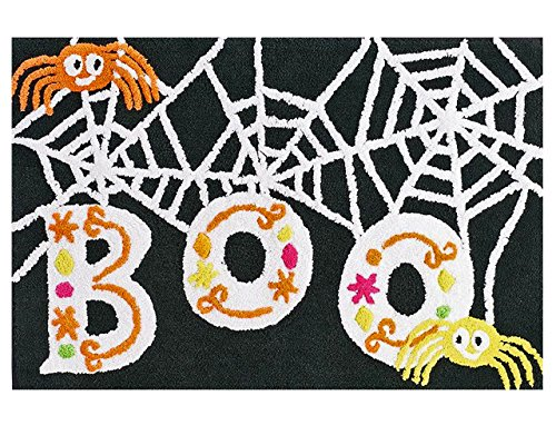 Halloween Rugs (Festive Halloween Spiderweb Plush Bath Rug- 20