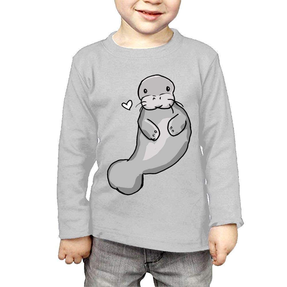 Fryhyu8 Newborn Childrens Manatee Heart Printed Long Sleeve 100/% Cotton Infants Clothes