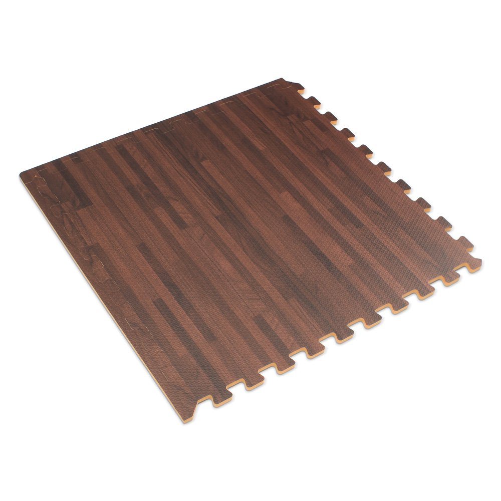 Forest Floor 3/8'' Thick Printed Wood Grain Interlocking Foam Floor Mats, 16 Sq Ft (4 Tiles), Cherry by Forest Floor (Image #3)