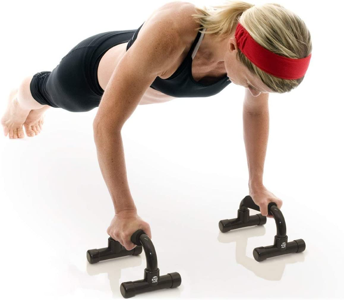 Renewed 321 STRONG Push Up Bars with Bonus Ebook Great for Upper Body Strength