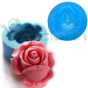 Molde silicona, color Rosa, diseño de flores en 3D, diseño de flores de pasta de azúcar Cake diseño de tarta: Amazon.es: Electrónica