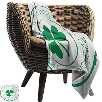 Amazon.com: AndyTours Flannel Throw Blanket,St. Patricks Day ...