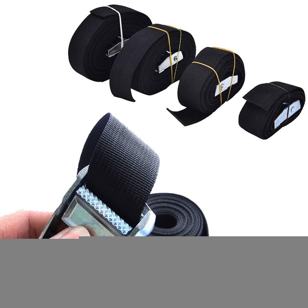 Correa de pesta/ñas de nailon resistente correa de nailon hebillas de cincha pesadas correa de nailon ajustable accesorios para atar la carga hacia abajo portaequipajes de techo de coche