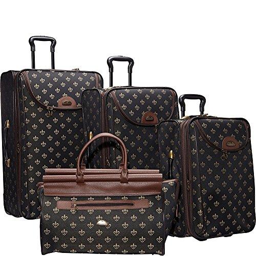 american-flyer-luggage-lyon-4-piece-set-metalic-black-one-size