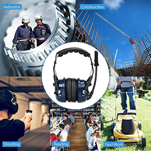 Retevis EH050K 2 Way Radio Headset Noise Cancelling VOX Mic Walkie Talkie Headset with Finger PTT Fit Baofeng UV-5R UV-5R V2+ BF-F8HP Retevis RT-5R Kenwood TK-3402U16P (Blue,1 Pack) by Retevis (Image #5)