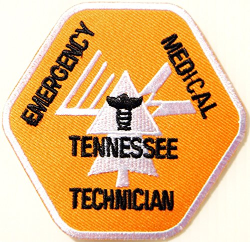Emergency Medical Tennessee Technician Emt Rescue Patch Iron On Uniform (Dead Emt Costume)