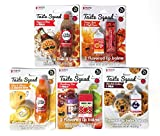 Taste Beauty 5PC Flavored Snack Lip Balm (Pizza & Cola, Orange Juice & Maple Bacon, Mac&Cheese & Orange Soda, Strawberry Kiwi & PB&J, Chocolate Cookies & Milk)