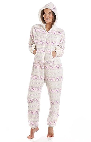 La Marquise - Pijama de una pieza - para mujer Lilac Hearts (77303)