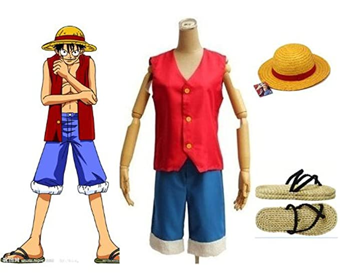 One Piece Monkey D Luffy Cosplay Costume Set Size L Amazon Ca