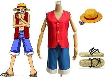 Un solo Sunkee Cosplay disfraz D, Luffy de mono de juego