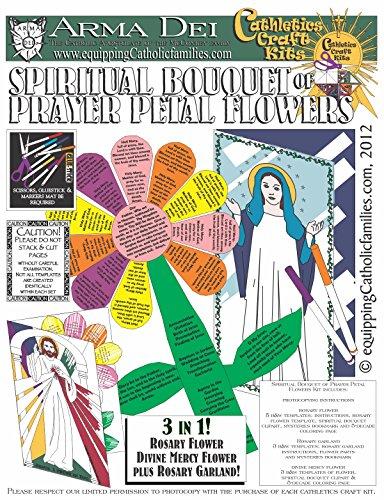 Spiritual Bouquet of Prayer Petal Flowers -
