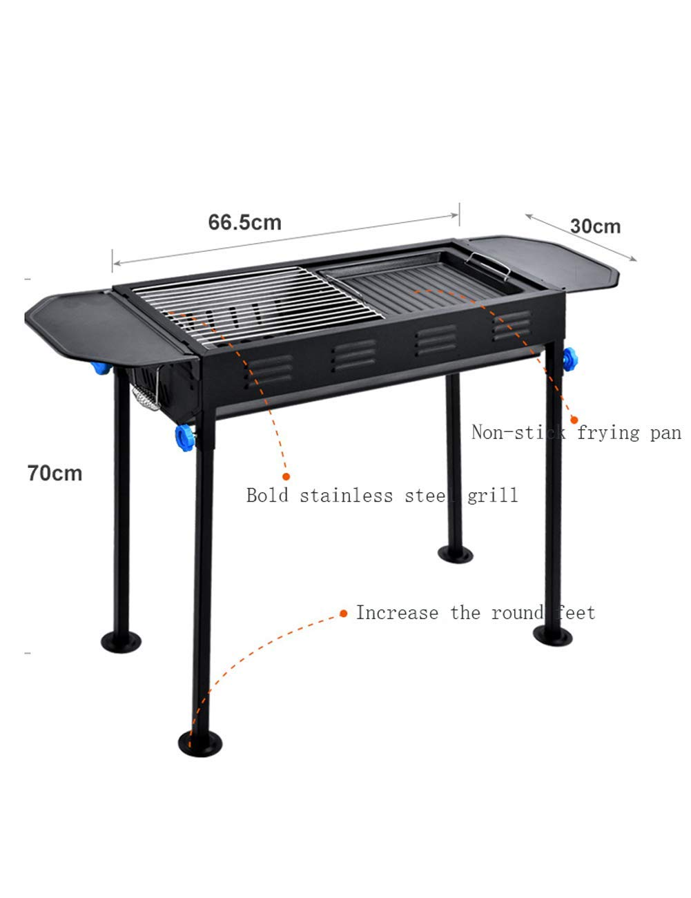 Amazon.com : XAJGW Portable Charcoal Grill Folding Barbecue ...