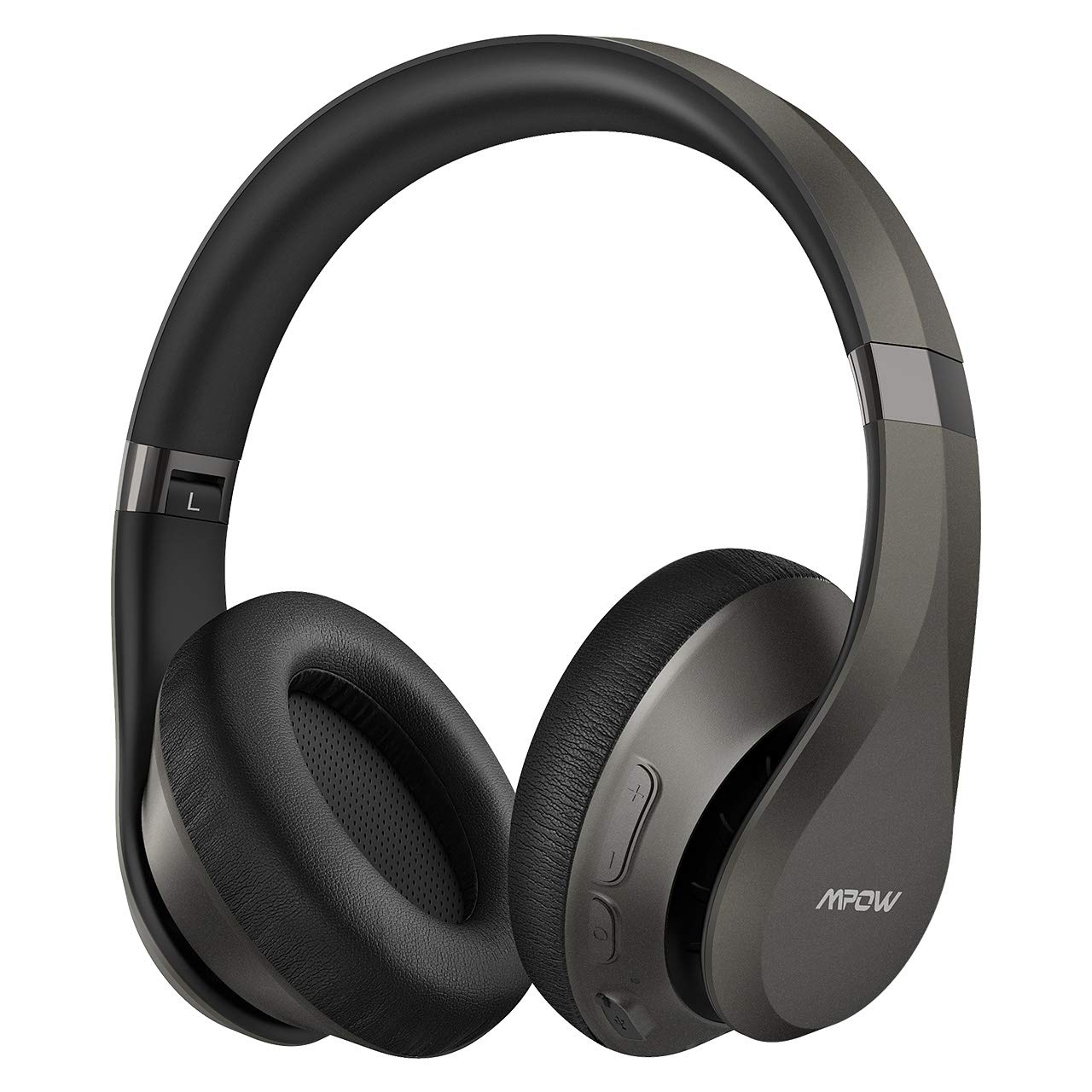 Mpow H20 Bluetooth Headphones Over Ear, 30 Hrs Playtime Wireless Hi-Fi Deep Bass Headphones, Latest CVC 8.0 Headphones with Mic, Comfortable Earmuff Headset with Carrying Pouch for Travel PC Cellphone