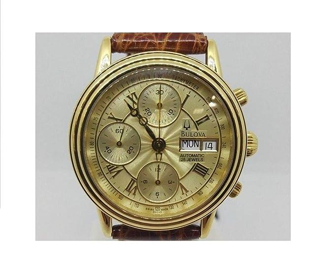 Bulova 60 °C02 Reloj Oro de 18 KT Automático ETA 7750 valjoux Crono Day Date: Amazon.es: Relojes