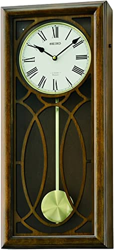 Seiko QXM343BLH Clock, One Size, Wood