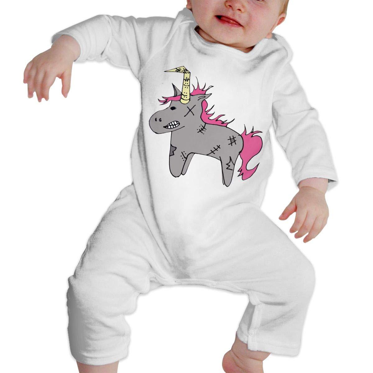 KAYERDELLE Poor Unicorn Long-Sleeve Unisex Baby Onesies for 6-24 Months Infant