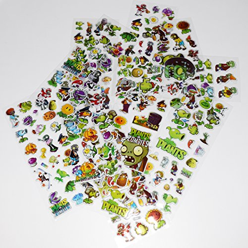 Party Hive Over 150 Plants Zombies 3D Puffy Raised Decorative PVZ Stickers - Arts & Crafts, Scrapbooking for -