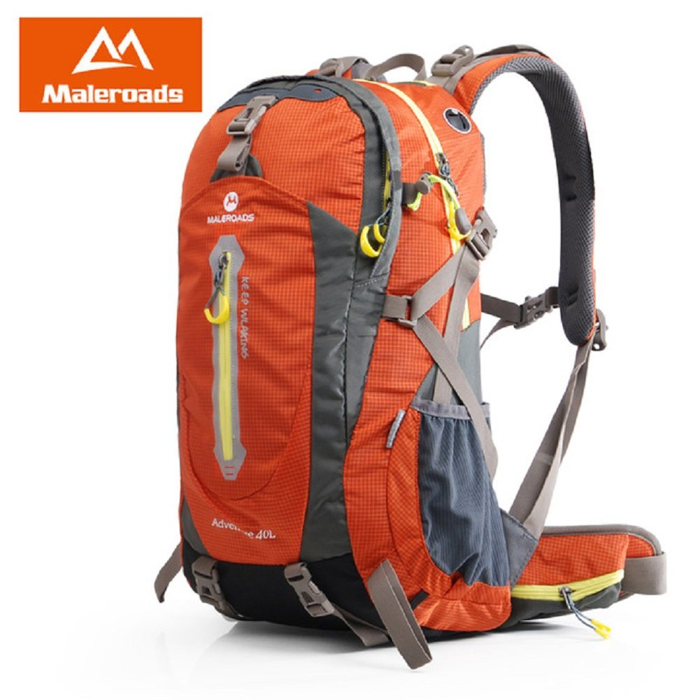 48ab652794c4 Maleroads Camping Hiking Backpack Sports Bag Outdoor Travel Trekk Rucksack  Mountain Climb Equipment 40 50L Men Women Teenager