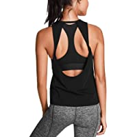 7e12c90f730b54 Mippo Womens Activewear Sexy Open Back Yoga Shirt Workout Clothes Gym  Sports Tank Tops