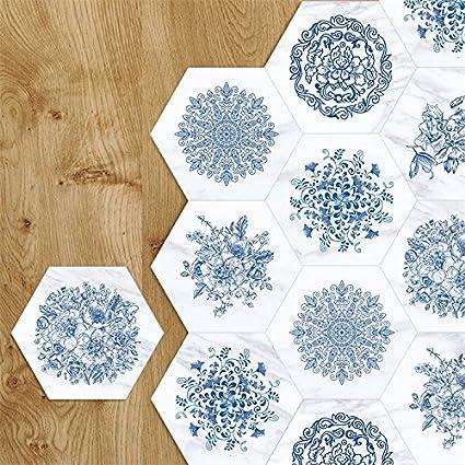 Amazon Com Amazingwall Blue And White Porcelain Wall Sticker Floor