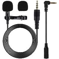 Lankerx Micrófono de Condensador - Omnidireccional Lavalier Microfono