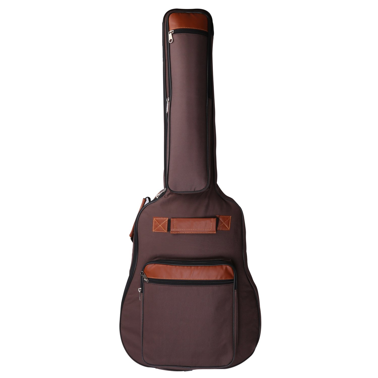 CAHAYA Guitar Bag 41 Inches [Premium Version] Guitar Case Waterproof Oxford Cloth with 0.31 Inch Thick Sponge Padded for Classical Electronic Guitar (Brown)