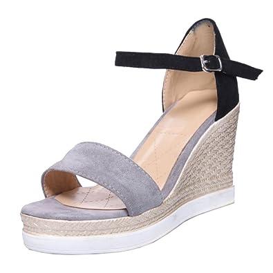 RAZAMAZA Damen Schuhe Sandalen mit Absatz