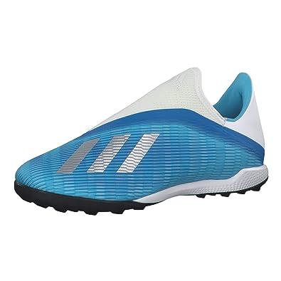 adidas X 19.3 LL Turf, Scarpe da Calcio, Bright Cyan Silver