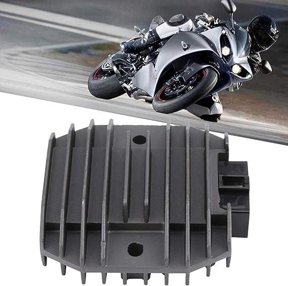 Qiilu Raddrizzatore di tensione del motociclo parti del motociclo del raddrizzatore del regolatore della lega di alluminio misura per YZF YZFR6 FZ6 XP T-MAX